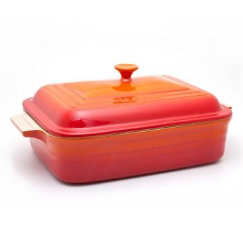 Travessa-retangular-com-tampa-32cm--laranja-