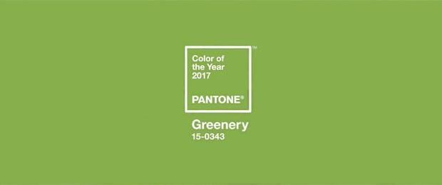 Pantone anuncia Greenery como a cor de 2017